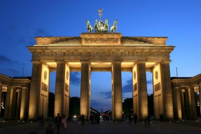 Germany Brandenburger Tor abends