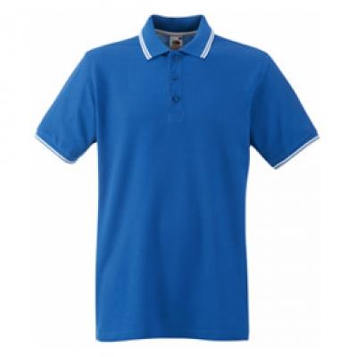 Кралско синя мъжка тениска тип Лакоста Fruit of the Loom - 180гр.