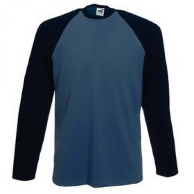 Блузи Fruit of the Loom - 150г. - Двуцветна мъжка блуза тип Лакоста Fruit of the Loom - 150гр.