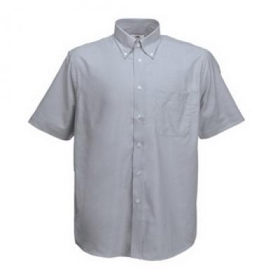 - Оксфорд сиво мъжка риза  къс ръкав Fruit of the Loom - 135 гр