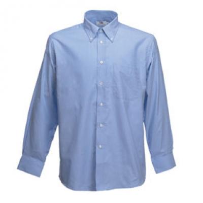 - Оксфорд синьо мъжка риза дълъг ръкав Fruit of the Loom - 135 гр