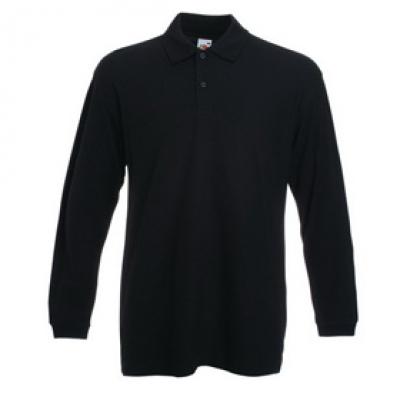 - Черна мъжка тениска с дълъг ръкав тип Лакоста Fruit of the Loom - 180гр.