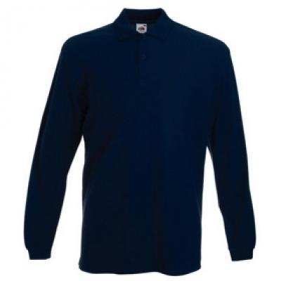 - Синя мъжка тениска с дълъг ръкав тип Лакоста Fruit of the Loom - 180гр.