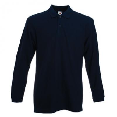 - Тъмно синя мъжка тениска с дълъг ръкав тип Лакоста Fruit of the Loom - 180гр.