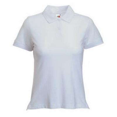 Дамски тип Лакоста Fruit of the Loom - 180гр  - Бяла тениска тип Лакоста на Fruit of the Loom - 180гр