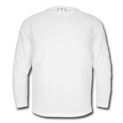 Мъжка блуза с дълъг ръкав -  бяла