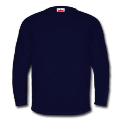 Мъжка блуза с дълъг ръкав -  тъмно син