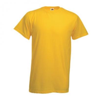Тениски Fruit of the Loom - 195гр текстил - Светло жълта тениска Fruit of the Loom