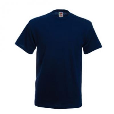 Тениски Fruit of the Loom - 195гр текстил - Тъмно синя тениска Fruit of the Loom