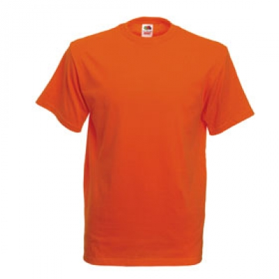 Тениски Fruit of the Loom - 195гр текстил - Оранжева тениска Fruit of the Loom
