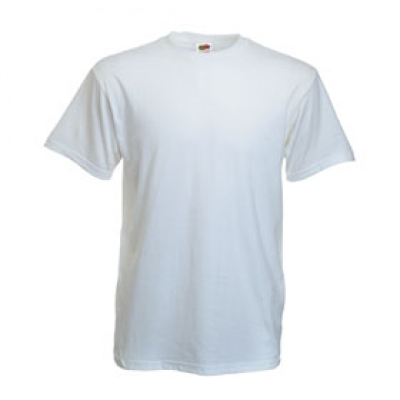 Тениски Fruit of the Loom - 195гр текстил - Бяла тениска Fruit of the Loom