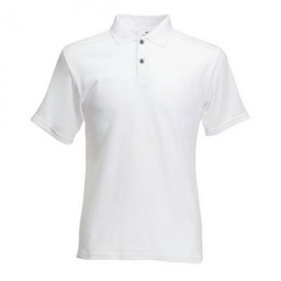 Мъжки тип Лакоста Fruit of the Loom - 180гр - Бяла мъжка тениска тип Лакоста Fruit of the Loom - 180гр.