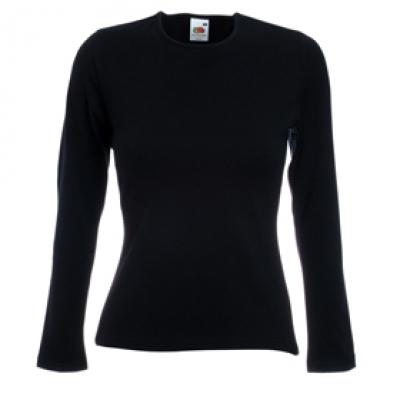 Дамска блуза с дълъг ръкав - черна