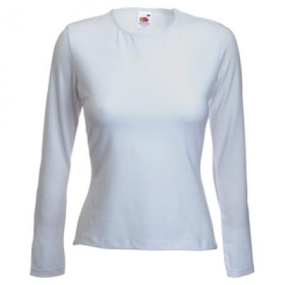 Дамска блуза с дълъг ръкав - бяла