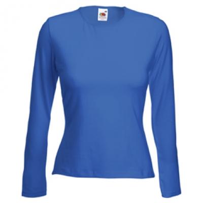 Дамска блуза с дълъг ръкав - кралско синя