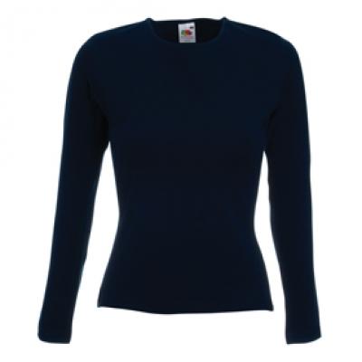 Дамска блуза с дълъг ръкав - тъмно синьо