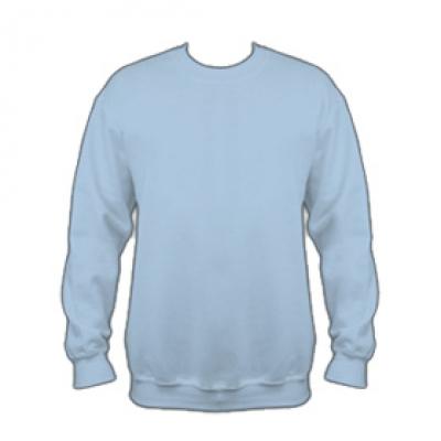 Ватена блуза - светло син