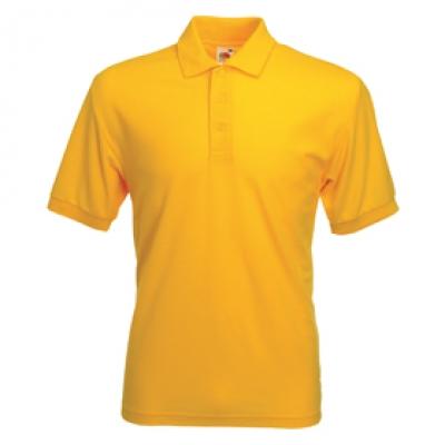Мъжки тип Лакоста Fruit of the Loom - 180гр - Жълта мъжка тениска тип Лакоста Fruit of the Loom - 180гр.
