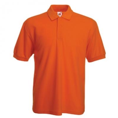 Мъжки тип Лакоста Fruit of the Loom - 180гр - Оранжева мъжка тениска тип Лакоста Fruit of the Loom - 180гр.