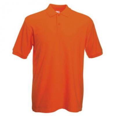 - Оранжева мъжка тениска тип Лакоста Fruit of the Loom - 180гр.