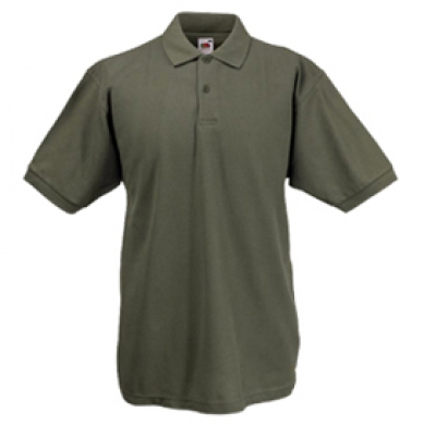 - Маслинена мъжка тениска тип Лакоста Fruit of the Loom - 180гр.