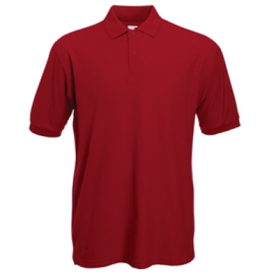 - Тухлено червена мъжка тениска тип Лакоста Fruit of the Loom - 180гр.