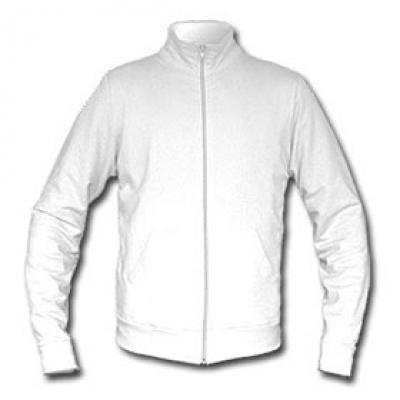 Ватена блуза с цип - бяла