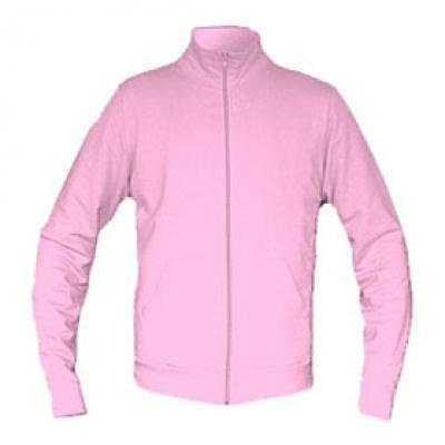 Ватена блуза с цип - розова