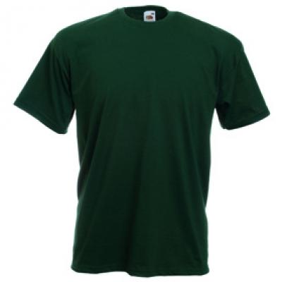 Тениски Fruit of the Loom - 165гр текстил - Тъмно зелена тениска Fruit of the Loom