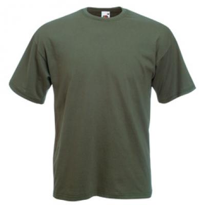 Тениски Fruit of the Loom - 165гр текстил - Маслинено зелена тениска Fruit of the Loom