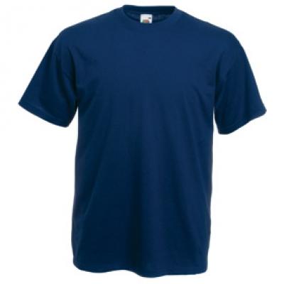 Тениски Fruit of the Loom - 165гр текстил - Тъмно синя тениска Fruit of the Loom