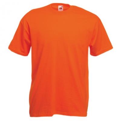Тениски Fruit of the Loom - 165гр текстил - Оранжева тениска Fruit of the Loom