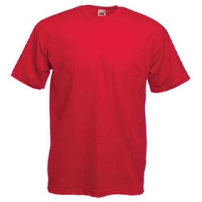 Тениски Fruit of the Loom - 165гр текстил - Червена тениска Fruit of the Loom