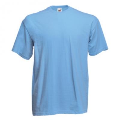 Тениски Fruit of the Loom - 165гр текстил - Небесно синя тениска Fruit of the Loom
