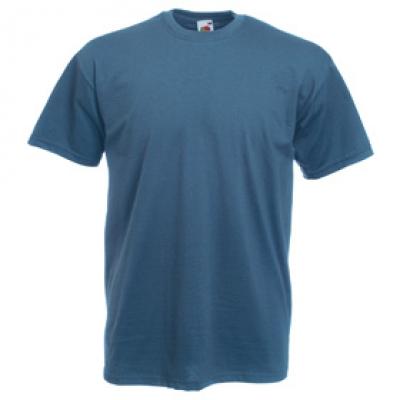 Тениски Fruit of the Loom - 165гр текстил - Стоманено синя тениска Fruit of the Loom