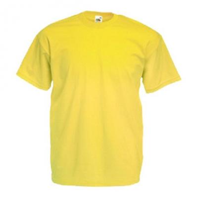 Тениски Fruit of the Loom - 165гр текстил - Жълта тениска Fruit of the Loom