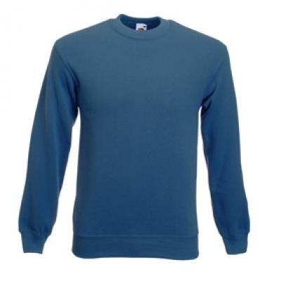 Блуза с дълъг ръкав и ластик - синя