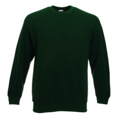 Блуза с дълъг ръкав и ластик - тъмно зелена
