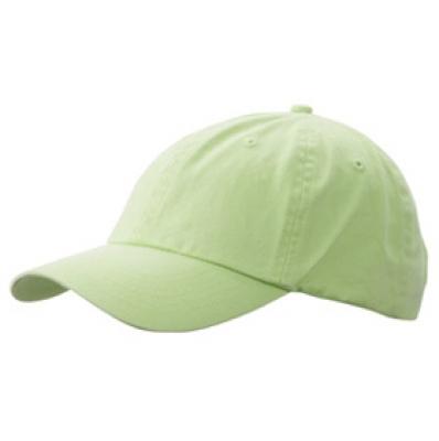 Шапка Избелена N165 цвят зелен лимон