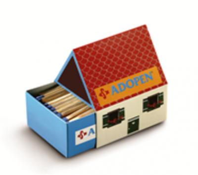 Кибритена кутия с нестандартна форма 4422 - Размери 56х65х46-клечки 38-40