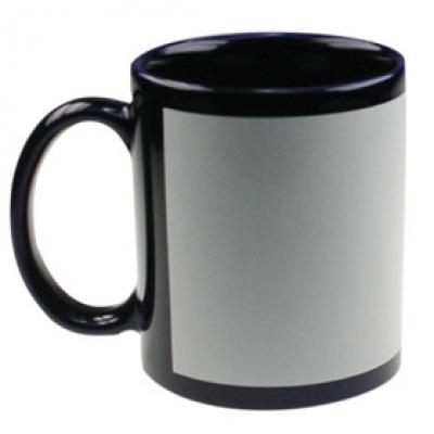 Черни чаши с пълноцветен печат