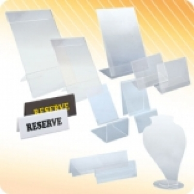 Поставки, стойки и табелки за маси - Плексигласови стойки за кафе, ресторант и офис