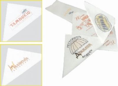 Салфетки с надпис и лого, доставка до обекта на клиента