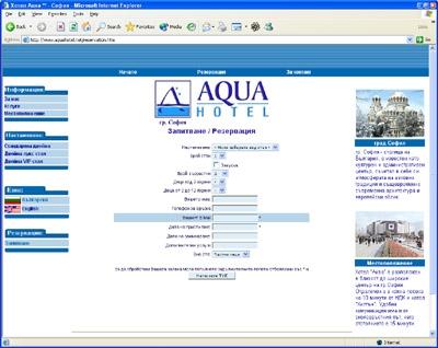 Аква Хотел форма