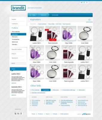 Brandit-online.eu - страница продукти